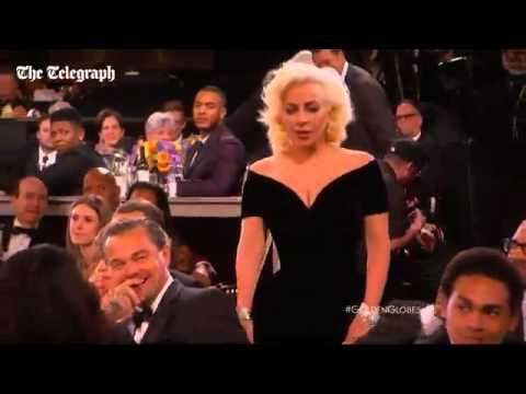 Lady Gaga, Leonardo Di Caprio'ya dirsek attı!