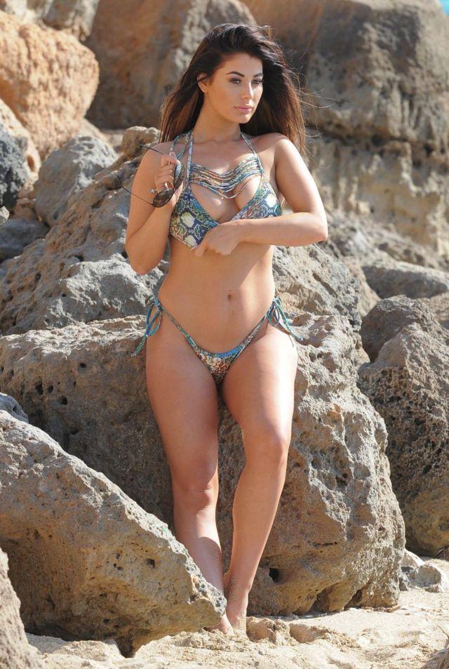 Jessica Hayes bikini ile Türkiye'de