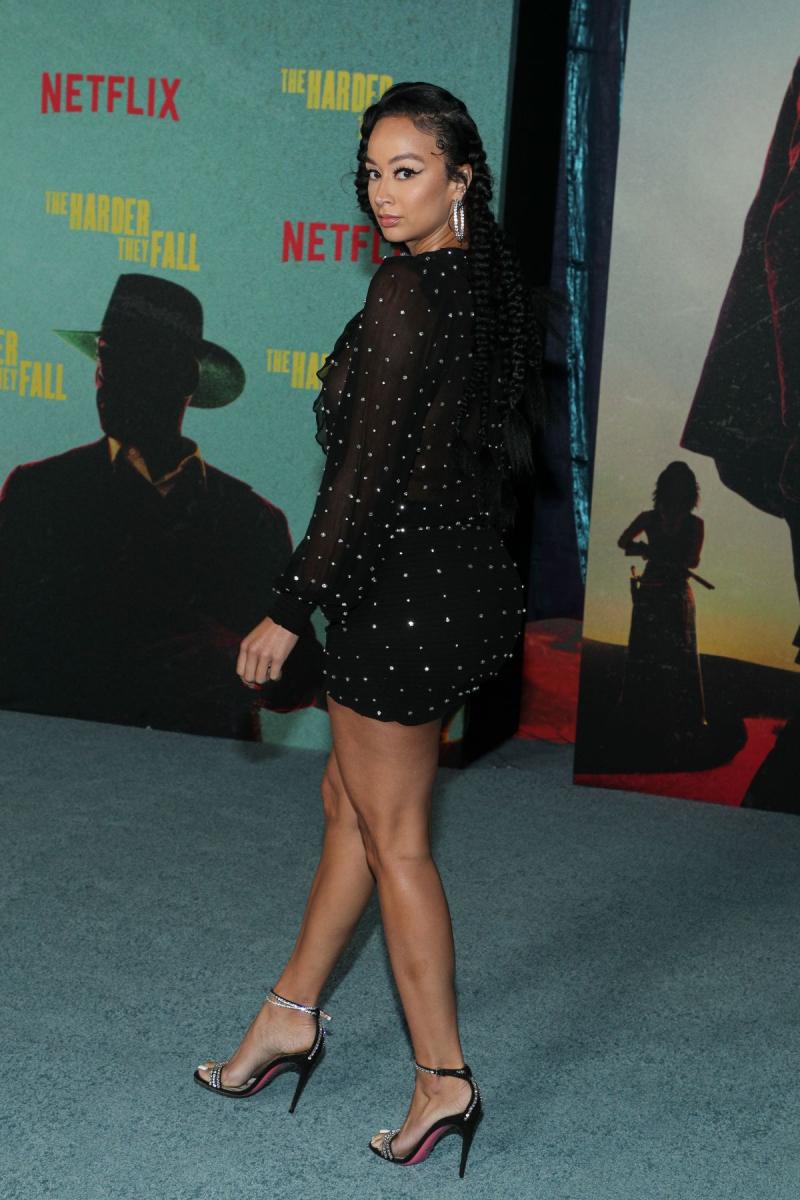Draya Michele mini elbiseyle Los Angeles'ta