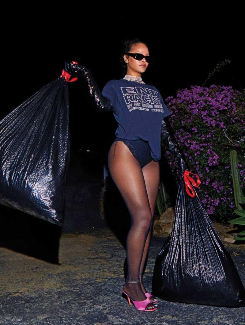 Rihanna 2020 Harper's Bazaar çekimlerinde