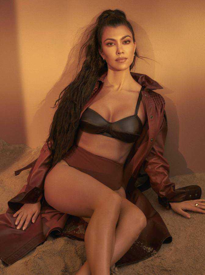 Kourtney Kardashian Health Magazin çekimlerinde
