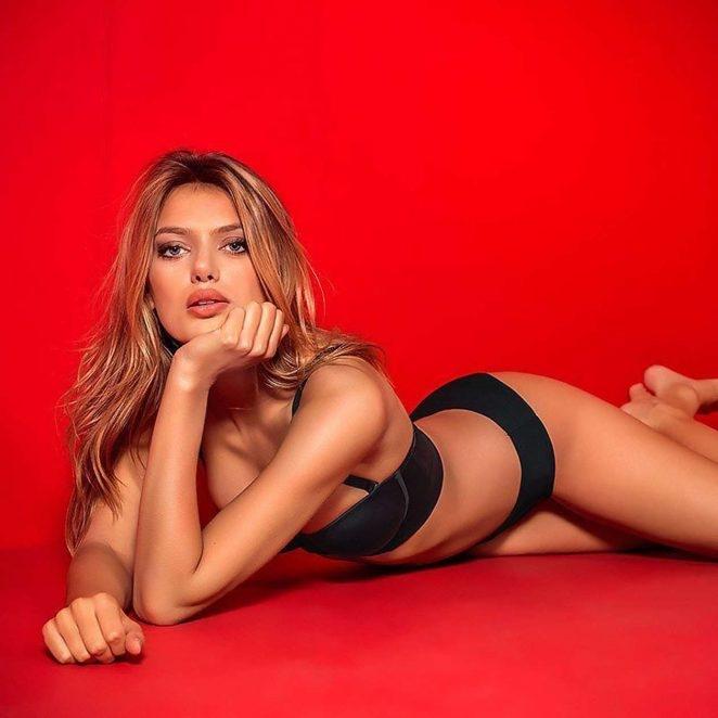 Bregje Heinen Victoria's Secret çekimlerinde