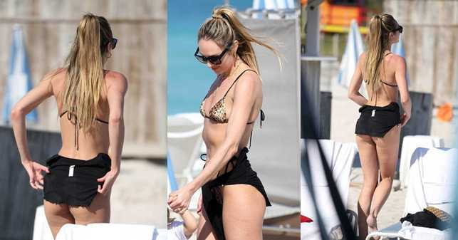 Candice Swanepoel bikiniyle Miami plajında