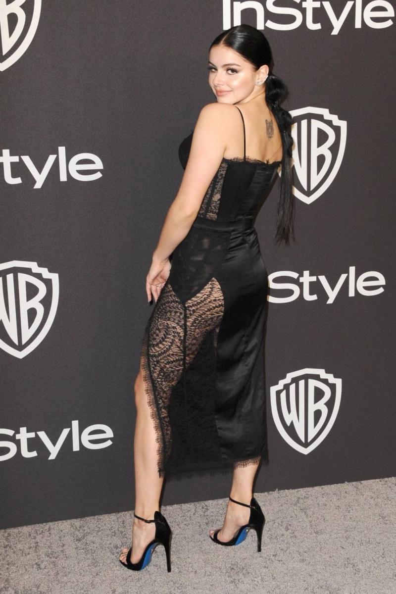 Ariel Winter siyah transparan elbiseyle