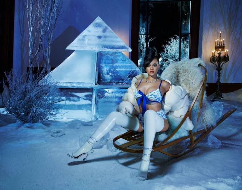 Rihanna Savage X Fenty Aralık 2020 çekimlerinde