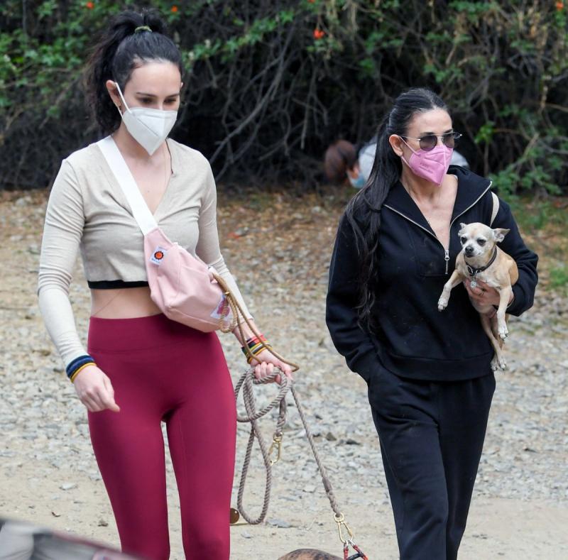 Demi Moore ve Rumer Willis Los Angeles'ta