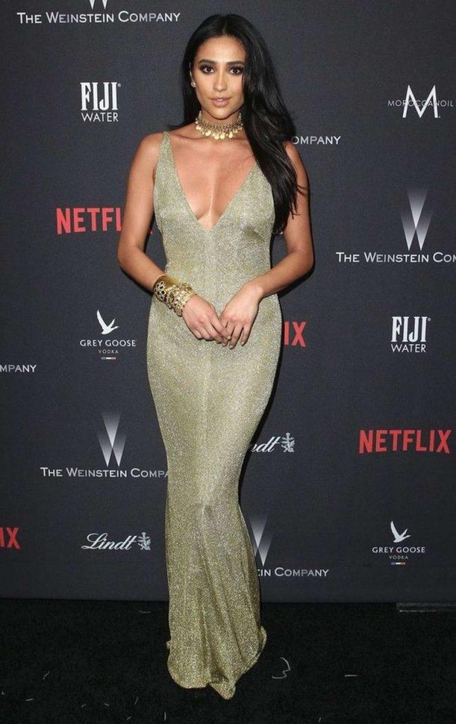 Shay Mitchel Netflix Golden Globe etkinliğinde