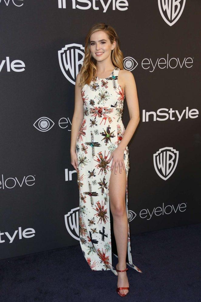 Zoey Deutch Warner Bros Golden Globes etkinliğinde