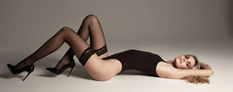 Noel Berry külotlu çorapla çekimlerde