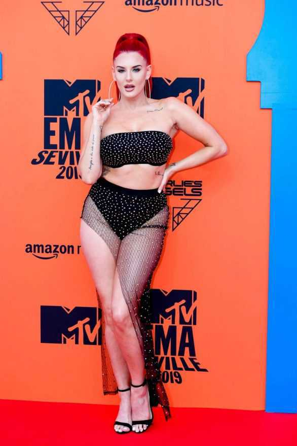 Justina Valentine 2019 MTV Video Müzik Ödülleri etkinliğinde