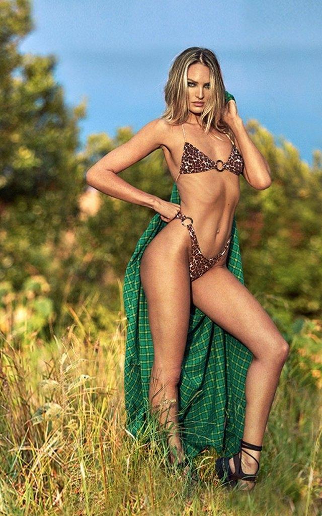 Candice Swanepoel mayo çekimlerinde