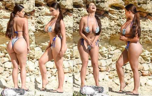 Demi Rose Mawby bikini ile Ibiza'da