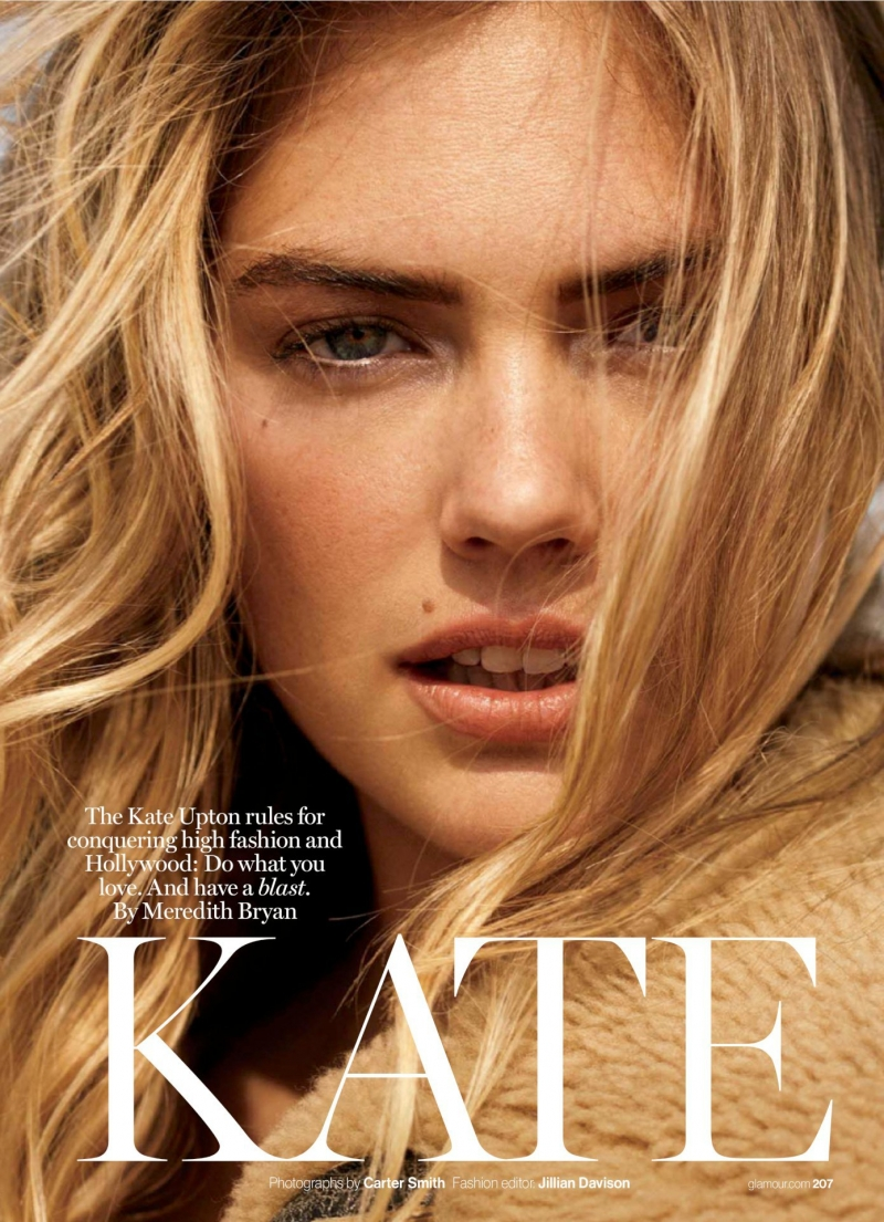 Kate Upton Glamour Magazin çekimlerinde