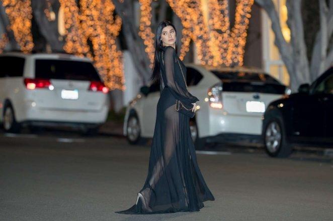 Nicole Williams transparan elbiseyle