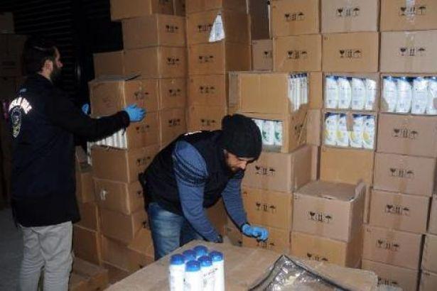 24 bin şişe sahte şampuan ele geçirildi