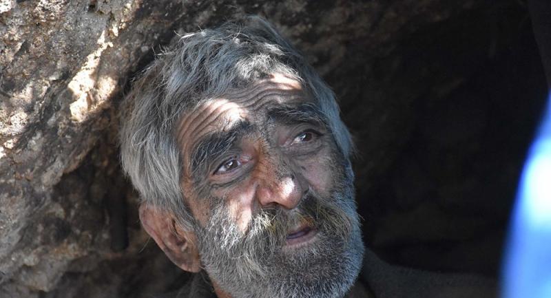 40 yıldır dağda yaşayan İskender Gündüz barakaya taşındı
