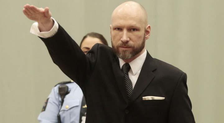 77 kişiyi öldüren Anders Behring Breivik, Nazi selamı verdi!