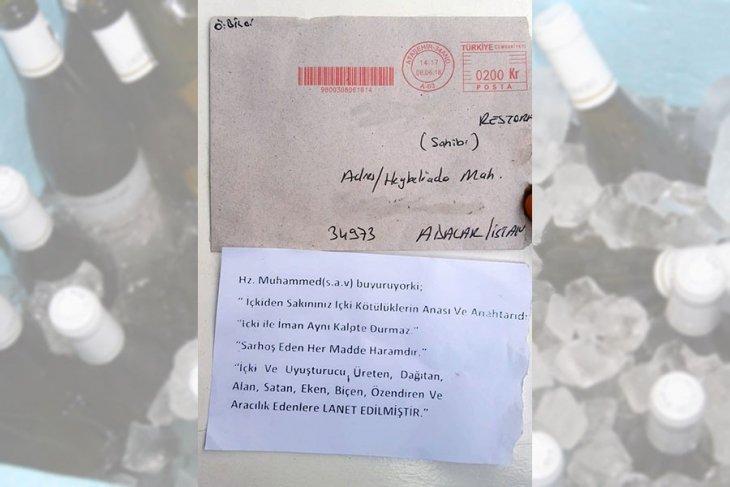 Alkollü mekanlara tehdit mektupları gönderildi