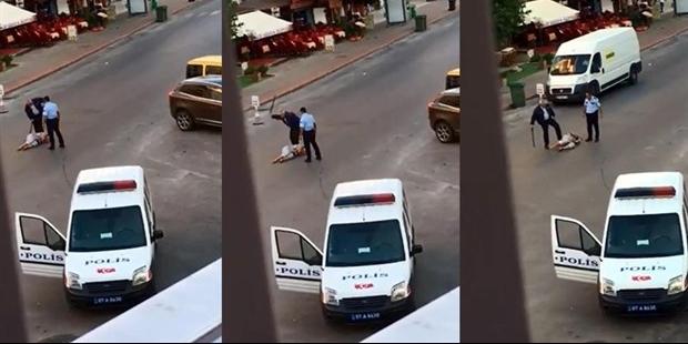 Antalya'da bir kadına saldıran polis tutuklandı!