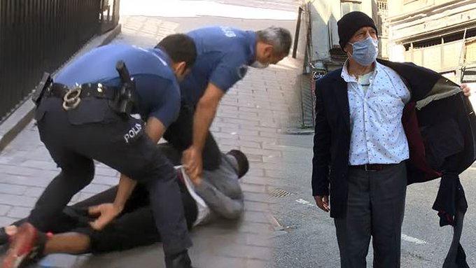 Beyoğlu'nda kedilere mama veren yaşlı adamı gasp ettiler