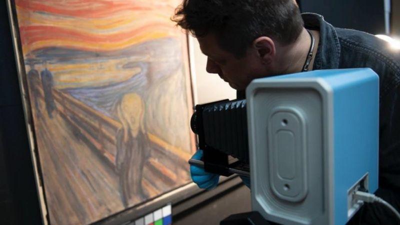Çığlık tablosundaki 'deli' yazısını Edvard Munch'un yazdığı belirlendi