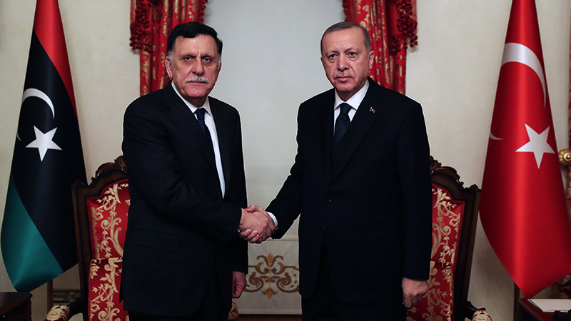 Cumhurbaşkanı Erdoğan, Libya Başbakanı Sarraj'la görüştü