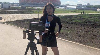 Deutsche Welle muhabirine canlı yayında taciz!