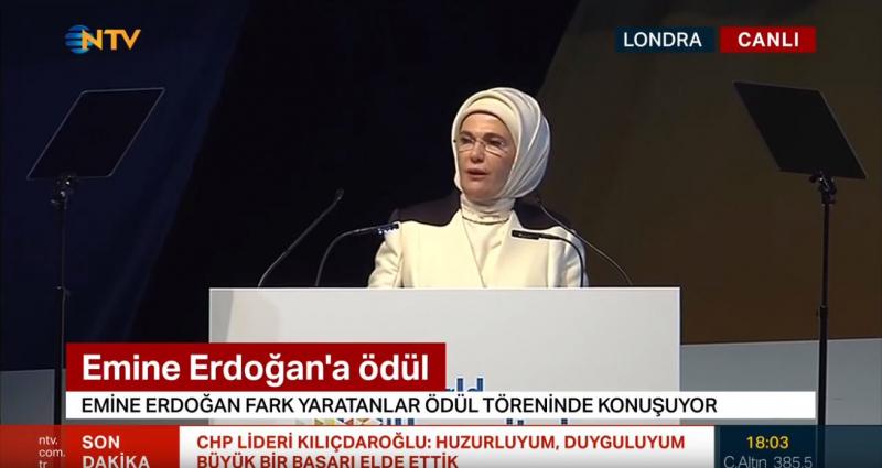 Ekrem İmamoğlu mazbata alırken NTV, CNN Türk ve Habertürk Emine Erdoğan'ı yayınladı