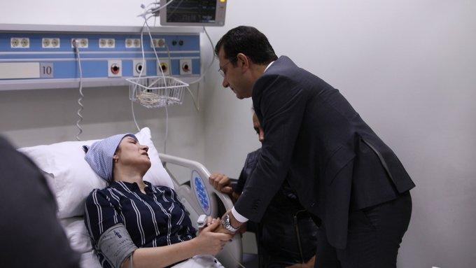 Ekrem İmamoğlu,Neslican Tay'ın ailesini hastanede ziyaret etti; ağladı