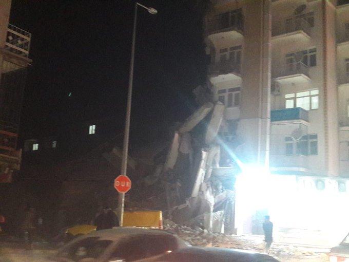 Elazığ İl Genel Meclisi Üyesi Cuma Telçeken: Maden ilçesinde çöken binada 6-7 kişi halen enkaz altında