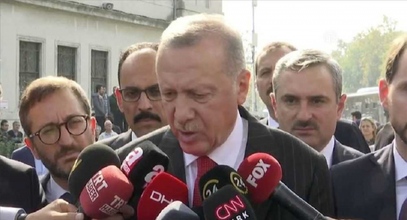 Erdoğan: 120 saatlik süreç içeresinde YPG'nin bölgeyi terk etmesi söz konusu
