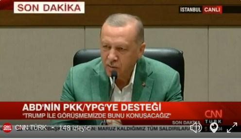 Erdoğan, ABD'ye gidiyor: ABD'nin teröre desteği apaçık ortada