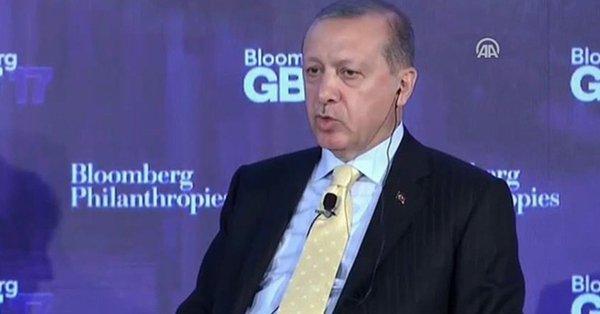 Erdoğan Bloomberg'e konuştu: ABD bize yaptırım uygulamak yerine destek vermeli