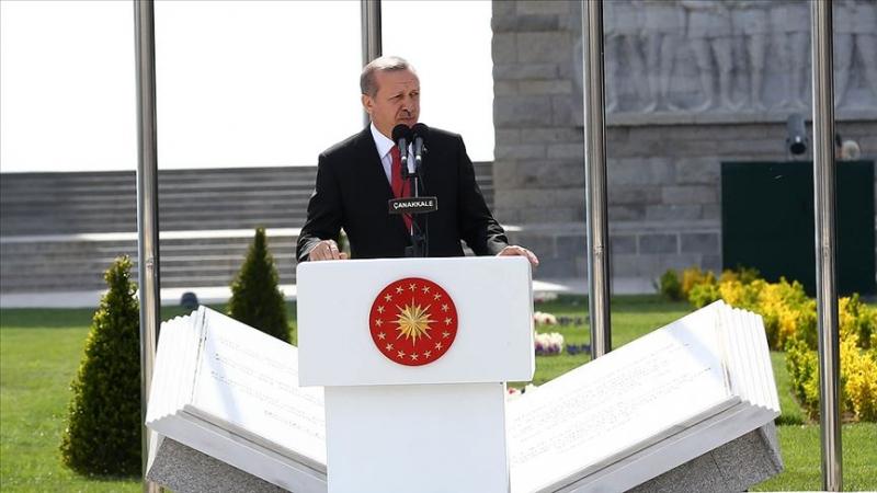 Erdoğan: Çanakkale'yi ruhunun derinliklerinde yaşatmayan kimsenin bu ülke ile ilgili tek cümle kurmaya hakkı yoktur