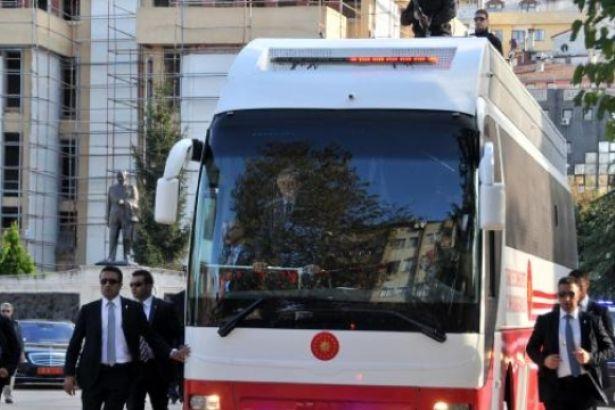Erdoğan'ın konvoyunda kaza! 1 yaralı