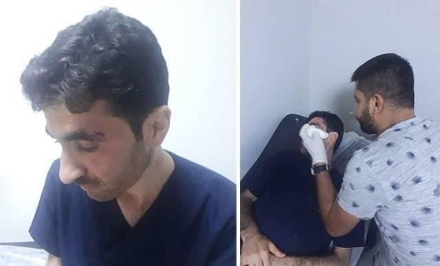 Erkek hemşire hasta yakınları tarafından darp edildi!