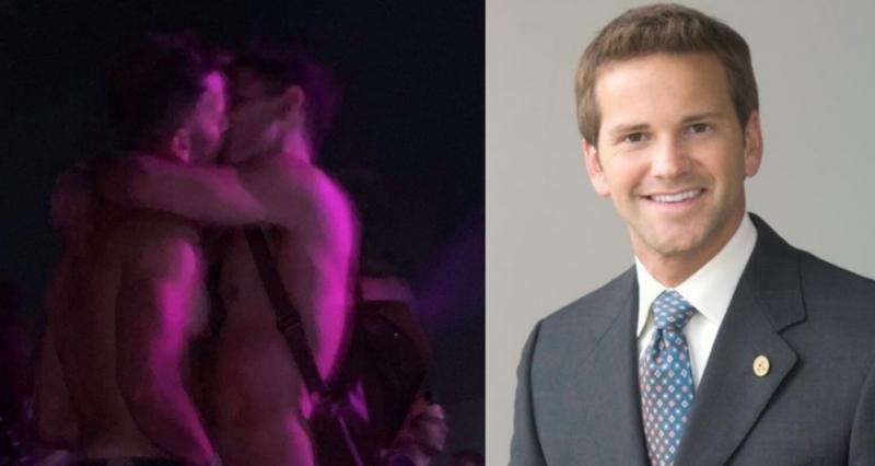 Eşcinsel düşmanı milletvekili, bir erkekle öpüşürken görüntülendi