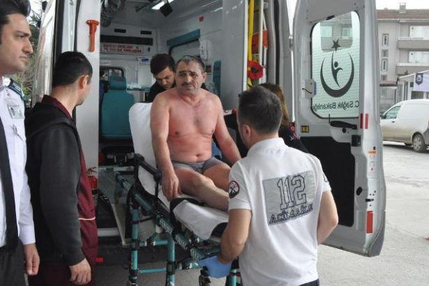 Fabrikada üzerine kimyasal madde dökülen işçi ağır yaralandı