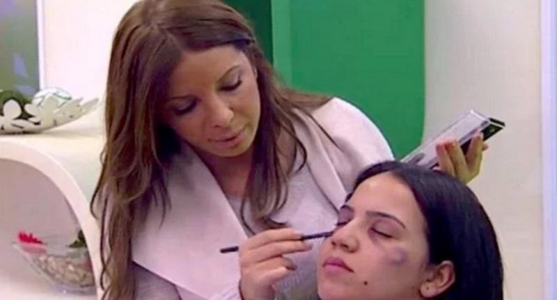 Fas kanalından aile içi şiddet gören kadınlar için 'makyaj tüyoları'