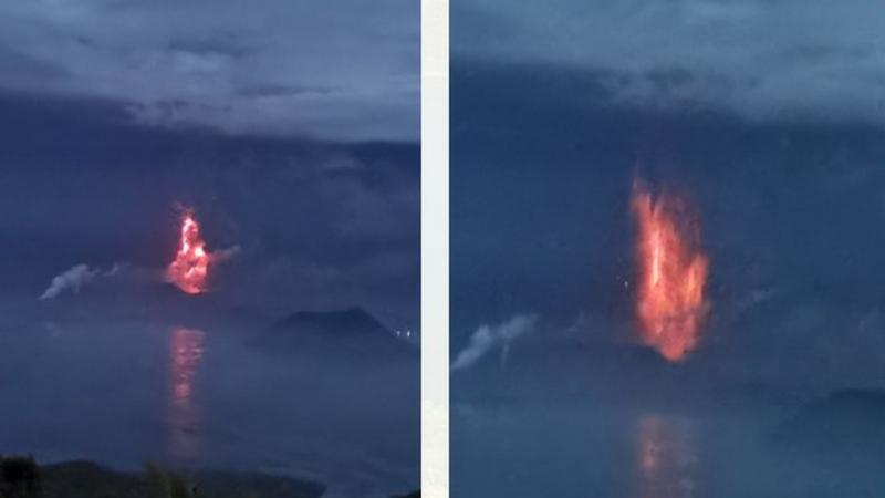 Filipinler'deki Taal Yanardağı lav püskürtmeye başladı