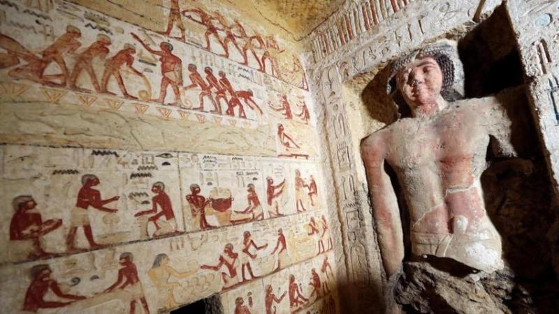 Firavunlar dönemine ait 4 bin 400 yıllık mezar bulundu