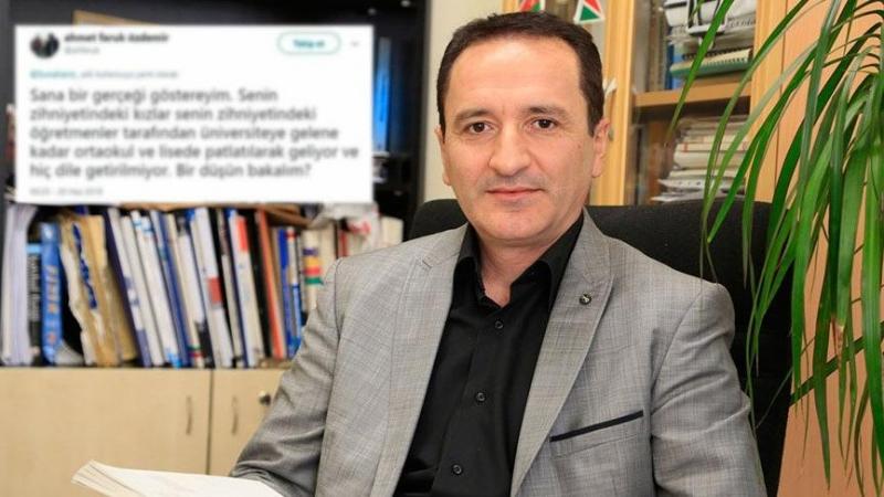 Fizik profesörü Ahmet Faruk Özdemir'den rezalet tweet