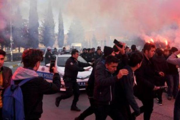 Gaziantep'te maç öncesi Fenerbahçeli taraftarlara müdahale