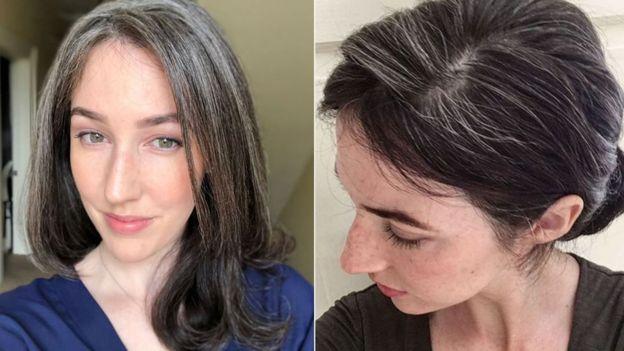 Grombre'deki kadınlar beyazlayan saçlarını boyatmıyor