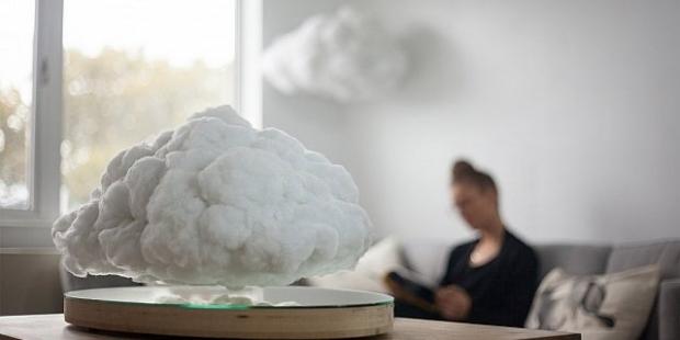 Havada süzülen bulut şeklinde hoparlör yapıldı!