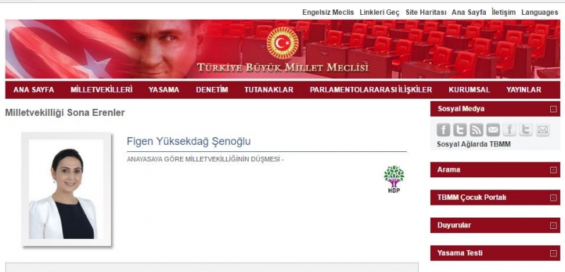 HDP Eş Genel Başkanı Yüksekdağ'ın milletvekilliği düşürüldü