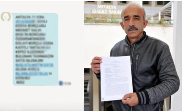 İcra mesajını akrabalarına gönderen avukatı şikayet etti
