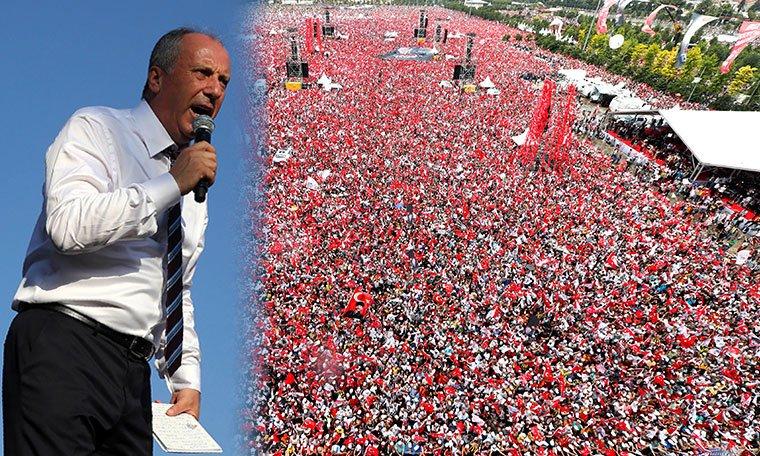 İnce: Erdoğan gibi faşist kafalı bir adam 5 milyonu görünce 'Kesin yayını' diyor