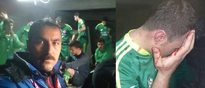 İstanbul'da futbol takımı saldırıdan kaçmak için mahzene saklandı