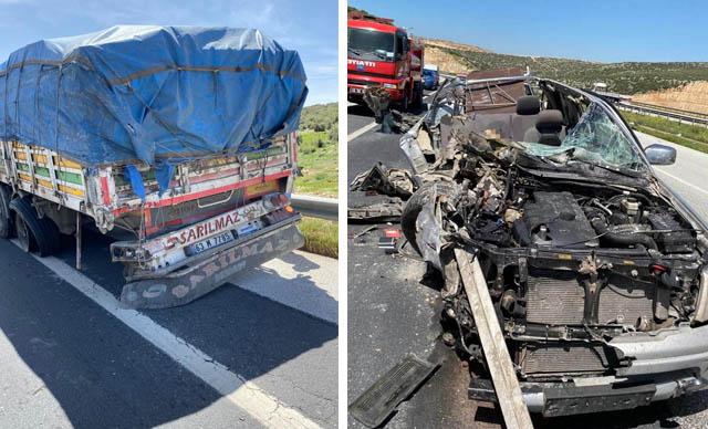 Kamyonet kamyonun altına girdi: 1 ölü, 2 yaralı